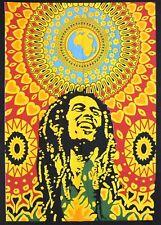 Indian Wall Hanging Cotton Mandala of Bob Marley Poster GIFT Tapestry Yoga Mat