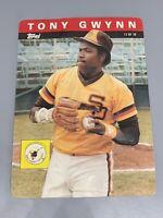 Tony Gwynn 1985 Topps 3D Baseball Stars Oversized Card San Diego Padres #13 3-D