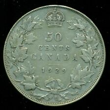 1929 Canada, King George V, Silver Fifty Cent Piece   F123