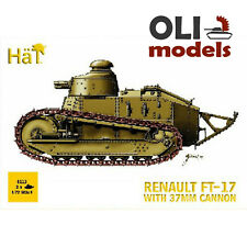 1/72 WWI French Tank RENAULT FT-17 with 37mm Cannon (Set of 2) - HaT 8113