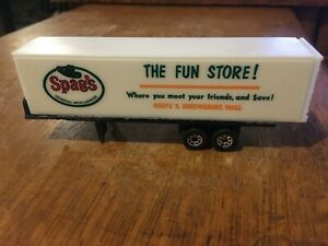 1/87 HO scale Spag's Tractor Trailer Matchbox base Massachusetts rare find nice