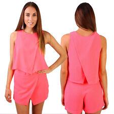 WOMENS Crop Top and Skort Set Sleeveless Swing Tops Vest Shorts Skirts Set