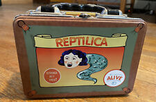 Reptilica Metal Lunchbox Midway Oddities Circus Strange Freaks People Sideshow