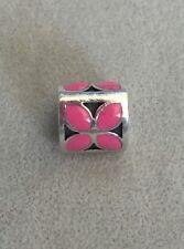 Authentic PANDORA 790437EN05 Pink Enamel Flower Silver Charm / Bead