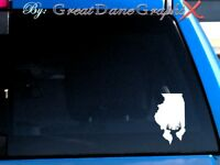 Illinois Deer Hunting State Vinyl Decal Sticker / Color - HIGH QUALITY