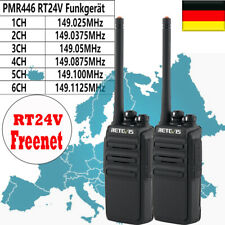 2pcs Retevis RT24V Freenet Funkgerät 0.5W 6Kanäle 149MHz VOX TOT WalkieTalkie