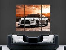 Nissan Gtr Auto Sport puesta de sol cartel impresión grande enorme