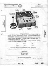 VINTAGE MANUAL & SCHEMATIC REEL TO REEL RECORDER BRUSH MODEL BK-455P SOUNDMIRROR