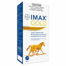 BAYER IMAX GOLD EQUINE LIQUID BROAD SPECTRUM HORSE WORMER 100mL