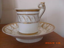 Napoleonic Sevres French Empire Period Unmarked Porcelain Shaving Cup Saucer L