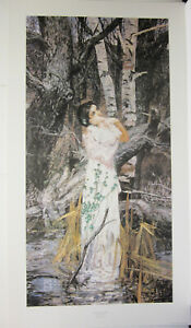Blind Narcissus by Jeffrey Jones Signed and Numbered Print # 707 / 1000