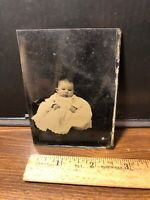 Antique Civil War Era Victorian Child Baby Tintype  Photo Photograph Vintage