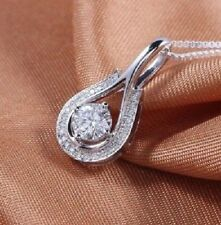 2.53 Ct Near White Round Cut Moissanite Forever Only Pendant 14K White Gold