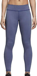 adidas Believe This Regular Rise 7/8 Womens Training Tights Blue Gym Workout