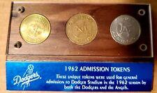 Rare 1962 Admission Tokens Set Dodgers Stadium /Angels