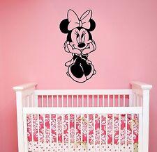 Minnie Mouse Wall Decal Disney Sticker Cartoon Vinyl Art Girls Room Decor mimo10