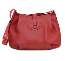 Auth HERMES Rodeo Shoulder Sling Bag Rouge Red Clemence Leather
