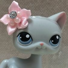 Littlest Pet #246 Grey Gray Short Hair Kitty Cat Kitten Blue Eyes SHIPS FREE