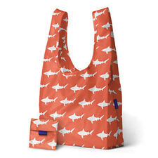 GENUINE STANDARD BAGGU REUSABLE FOLDABLE SHOPPING BAG GROCERY BEACH SHARK ORANGE