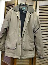 Mens EMS (Eastern Mountain Sports) Canvas Barn Jacket Coat S Fleece Lined EUC