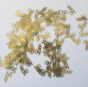 100 pcs of LOVE Gold Soft Metal Nail charms Sequin Nail Art Designs