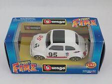 [PH3-10] BBURAGO BURAGO 1/43 STREET FIRE FIAT ABARTH 500 SPORT BIANCA N.95 ELF