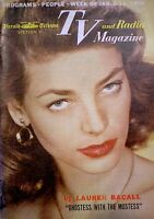 TV Guide 1956 Regional Lauren Bacall TV Radio and Magazine Bogart Sinatra Rare