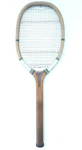 'Hexagon' antique wooden tennis racket