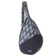 KAVU Paxton Pack Backpack Rope Sling Bag - Black Zig Zag