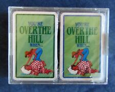 Over the Hill comic playing card double deck sealed (ironic jokes shown)