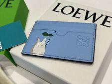LOEWE CARD HOLDER TARJETERO PLANO TOTORO AZUL LIGHT SKY BLUE NEW