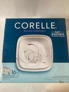 Corelle Square 16-Piece Dinnerware Set - Splendor Red