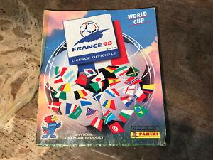 Ancien album PANINI collection vignettes foot France 98 World cup sans l'Iran