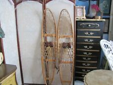 Large pair of antique snowshoes Snocraft Inc Norway Maine Usa 1943