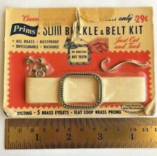 Prims Buckle Belt Kit Cover Your Own to Match Dress .75 in by Max 40 in VTG DIY