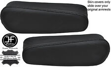 BLACK STITCHING 2X SEAT ARMREST LEATHER COVERS FITS LEXUS RX300 RX330 97-03