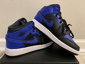 Nike Air Jordan 1 Mid Hyper Royal Black Men's Sz 8.5 554724-077