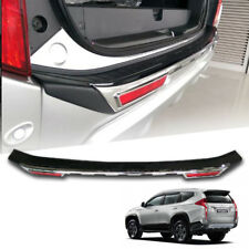 REAR BUMPER OUTER GUARD COVER CHROME BLACK FOR MITSUBISHI PAJERO SPORT 2015-2017
