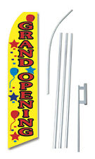 Complete 15' Grand Opening Balloons Kit Swooper Feather Banner Sign Flag