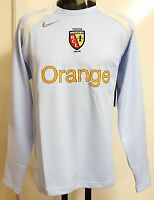 RC LENS LIGHT BLUE LONG SLEEVE FOOTBALL TRAINING SHIRT BY NIKE SIZE LARGE NEW