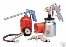 5PC AIR TOOL SET KIT SPRAY PAINT GUN FOR USE WITH AIR COMPRESSORS