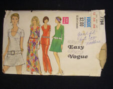 1970s Vogue Pattern 7784 Tunic Dart Dress A Line Gown Pant Set Sleeve Shemale TV