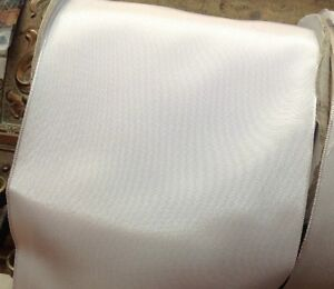 Vintage French Ribbon Trim  Acetate White 1yd Made in France