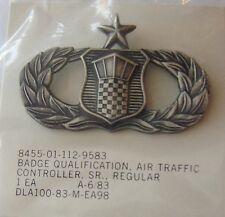 USAF SENIOR AIR TRAFFIC CONTROLLER QUAL BADGE NIP REGULAR SIZE:K5