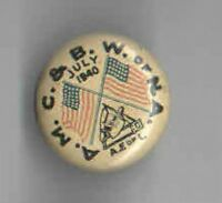 1940 LABOR UNION pin BUTCHER pinback
