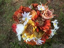 Wedding flowers bridal bouquets decorations sunflowers fall colors