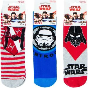 STAR WARS SLIPPER GRIPPER SOCKS 3 DESIGNS 3 SIZES NEW