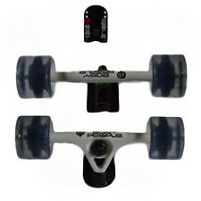 Easy People Longboards White Truck set Clear wheels,Spacer,ABEC-7