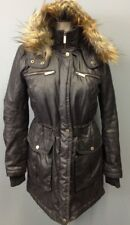 FRENCH CONNECTION Black Snap And Zipper Front 5 Pocket Winter Coat Sz XS EE5555