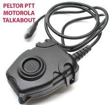 Airsoft tomtac Peltor PTT black 2 way commutateur radio sordins comtac Motorola 1 pin
